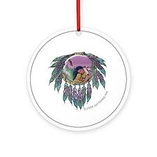 Eagle Maiden Round Ornament