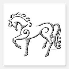 "Celtic Horse Square Car Magnet 3"" x 3"""