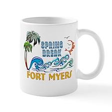3D Palms Waves Sunset Spring Break FORT MYERS Mugs