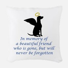IN MEMORY OF Woven Throw Pillow