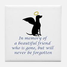 IN MEMORY OF Tile Coaster