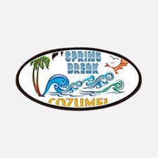3D Palms Waves Sunset Spring Break COZUMEL Patches