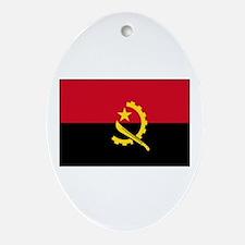 Angola Flag Oval Ornament