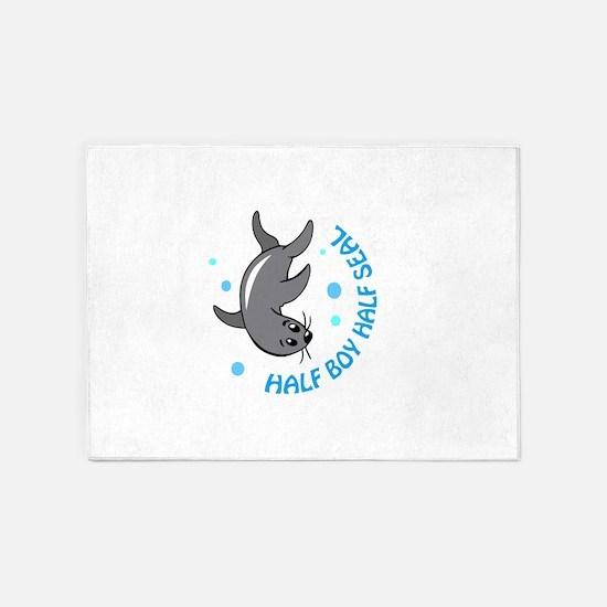 HALF BOY HALF SEAL 5'x7'Area Rug