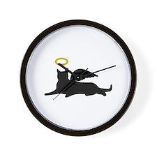 CAT ANGEL Wall Clock