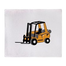 FORKLIFT Throw Blanket