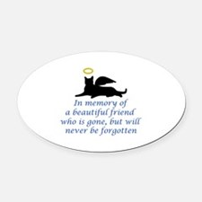 IN MEMORY OF Oval Car Magnet
