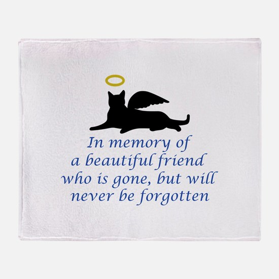 IN MEMORY OF Throw Blanket