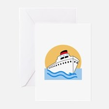 CRUISE SHIP Greeting Cards
