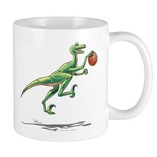 Raptor with Basketball Dinosaur Mug