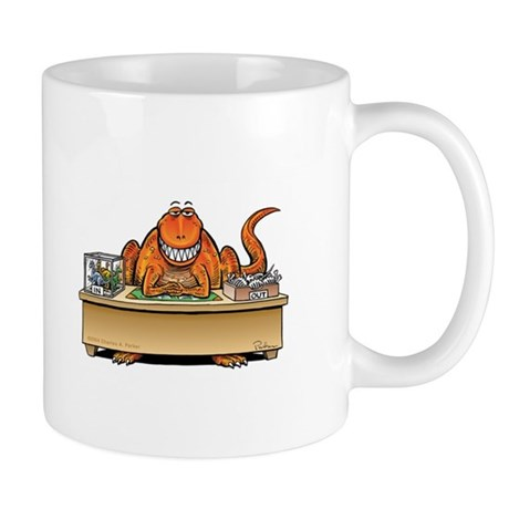 T-Rex Inbox/Outbox and a Smile Dinosaur Mug