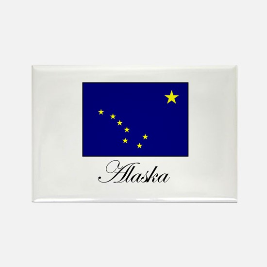 Alaska - Alaskan Flag Rectangle Magnet