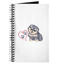 PUPPY PAW PRINTS ON HEART Journal