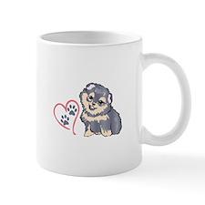 PUPPY PAW PRINTS ON HEART Mugs