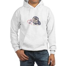 PUPPY PAW PRINTS ON HEART Hoodie