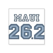 "Cute 26.2 training Square Sticker 3"" x 3"""