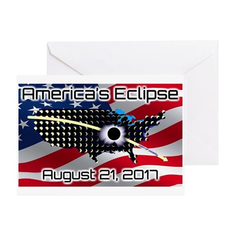 Americas Eclipse August 21, 2017 Greeting Card By Listing Store 127923757