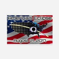 America's Eclipse August 21, 2017 Rectangle Magnet