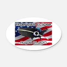 America's Eclipse August 21, 2017 Oval Car Magnet