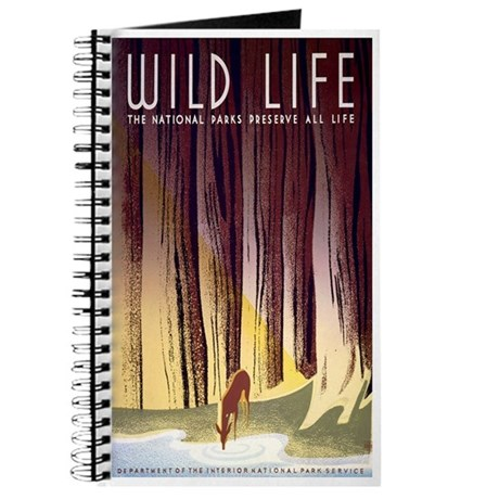 1930s Vintage Wildlife WPA Poster Journal