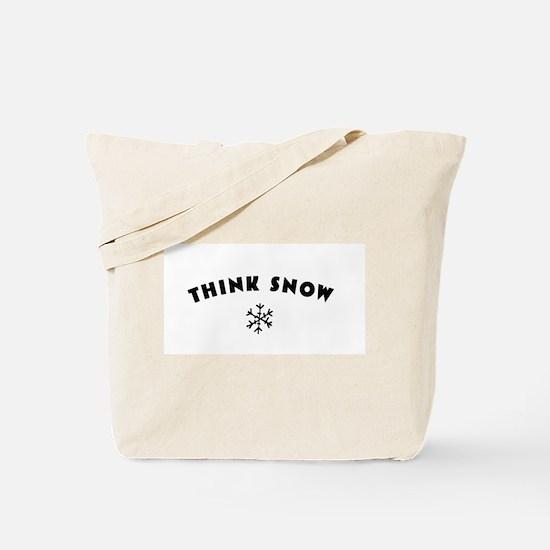 Think Snow Tote Bag