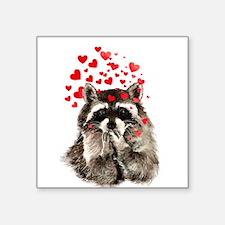 Raccoon Blowing Kisses Cute Animal Love Sticker