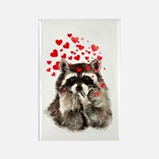 Raccoon Blowing Kisses Cute Animal Love Magnets