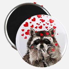 Raccoon Blowing Kisses Cute Animal Love Magnets