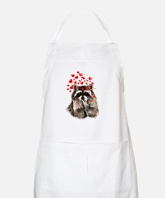 Raccoon Blowing Kisses Cute Animal Love Apron