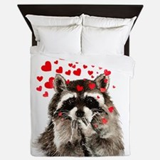 Raccoon Blowing Kisses Cute Animal Love Queen Duve