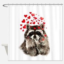 Raccoon Blowing Kisses Cute Animal Love Shower Cur