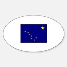 Alaskan Flag - Alaska Oval Decal