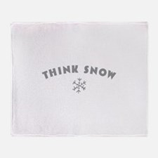Think Snow Throw Blanket
