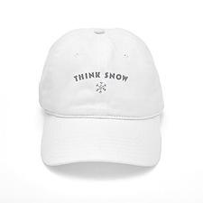Think Snow Baseball Baseball Cap