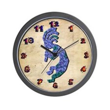 Blue Kokopelli Wall Clock