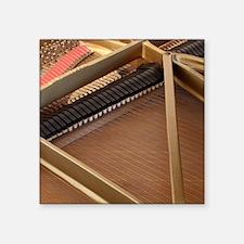 """Inside a Piano Square Sticker 3"""" x 3"""""""