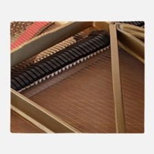 Inside a Piano Throw Blanket