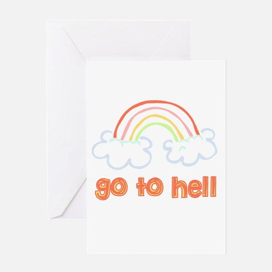 Go To Hell Greeting Cards