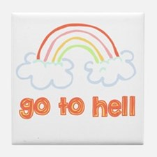 Go To Hell Tile Coaster