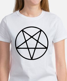 black white pentagram T-Shirt