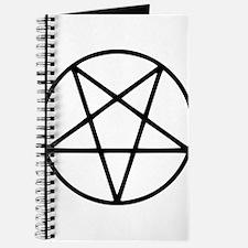 black white pentagram star Journal