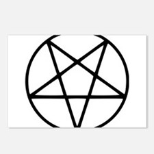 black white pentagram sta Postcards (Package of 8)