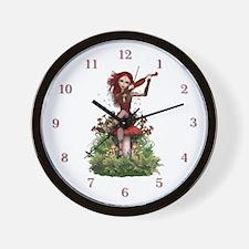 Coral Fairy ~ Summer Melody Wall Clock