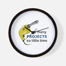 SO MANY PROJECTS Wall Clock
