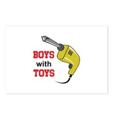 BOYS WITH TOYS Postcards (Package of 8)