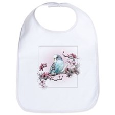 Parakeet And Cherry Blossoms - Bib