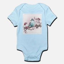 Parakeet And Cherry Blossoms - Infant Body Suit