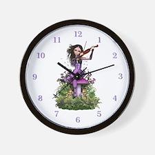 Sweet Amethyst Fairy ~ Summer Melody Wall Clock