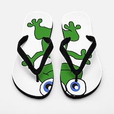 Cartoon Frog Flip Flops