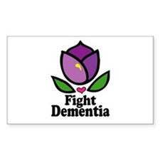 Alzheimers Fight Dementia Sticker (rectangle)